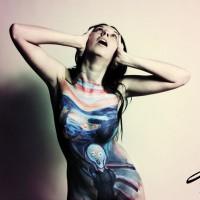 The Scream body painting by Danny Setiawan of DenArt body art studio