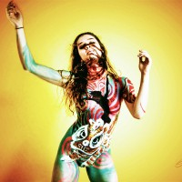 Lion Dance body painting by Danny Setiawan of DenArt body art studio in NYC