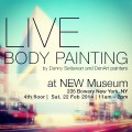 bodypainting at NEW museum invitation