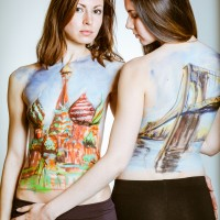 Moscow NY body painting