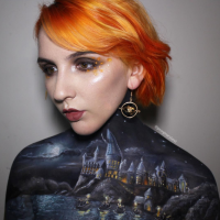 F*ck Contouring, We Just Want More of This Magical Hogwarts Body Art